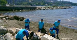 Bursa sahillerinin dolgu alanları yenilendi