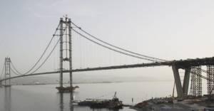 İzmit Körfez Köprüsü'ne son tabliye konuldu!