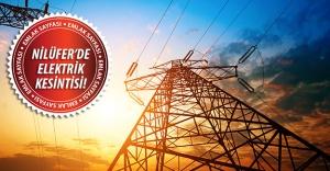 Nilüfer'de elektrik kesintisi! 31 Ağustos 2015