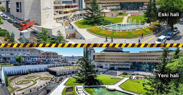 Tiryaki Altındağ Belediye binasının da çehresini değiştirdi!