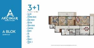 Akçınar Moda Evleri kat planları!