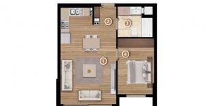 Folkart Yaka Evleri daire planları