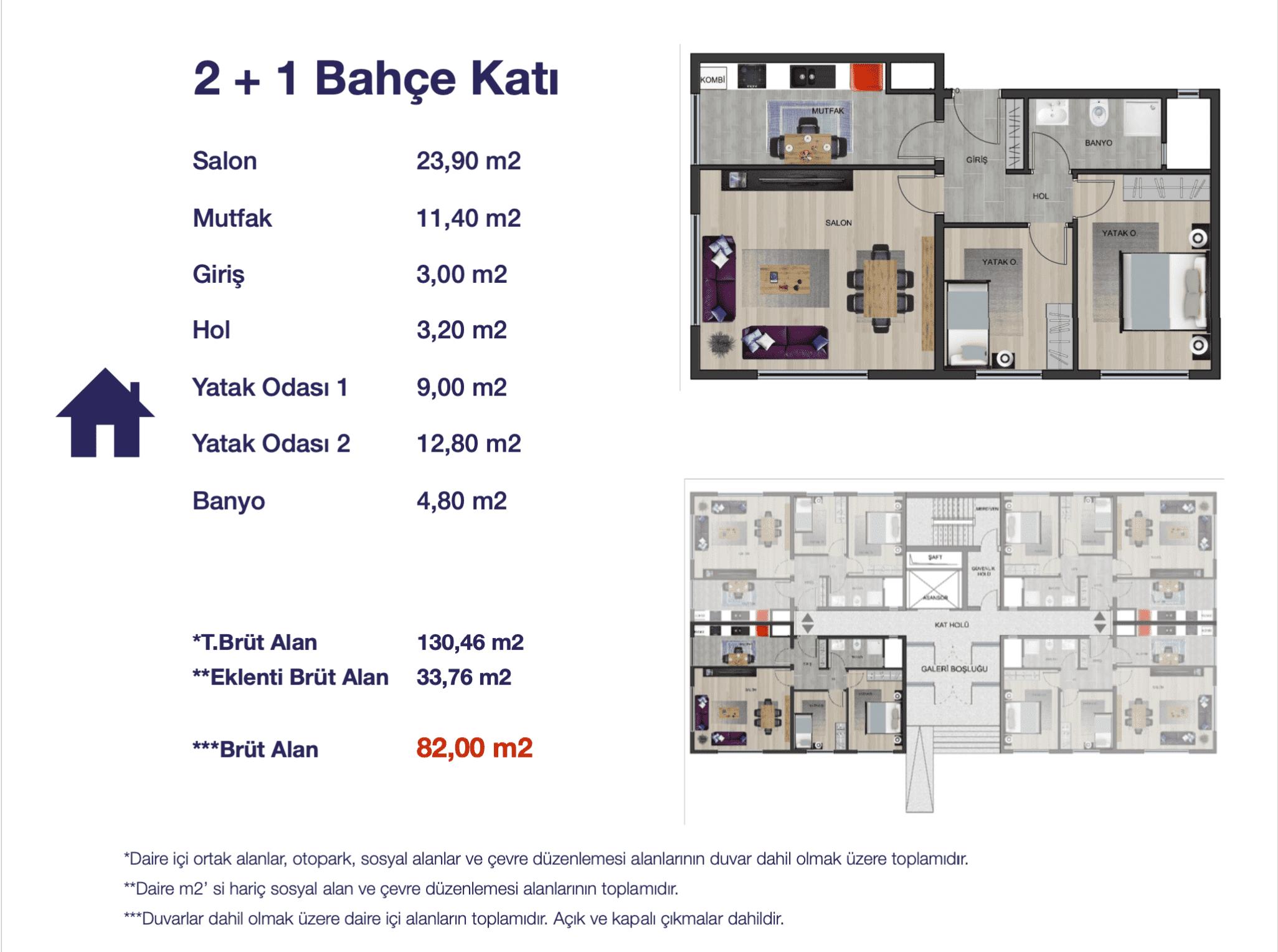 Baras Life Konakları daire planları!