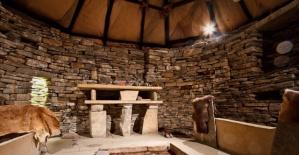 İşte taş devri köyünün taş evleri!