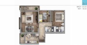 Evim Yüksekdağ daire planları!