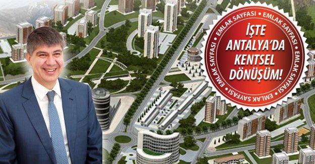 Antalya'nın kentsel dönüşüm haritası belli oldu!