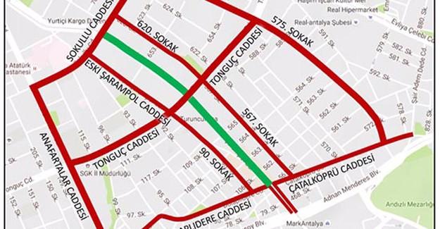 Antalya Şarampol Caddesi yarın trafiğe kapanıyor!