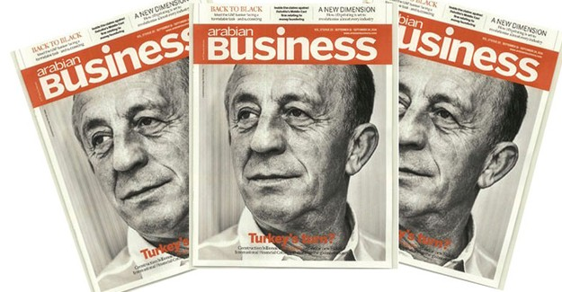 Ali Ağaoğlu Arabian Business dergisine kapak oldu!