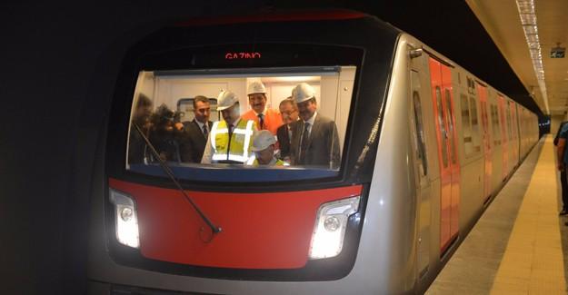 Keçiören Metrosu'nda ilk test sürüşü yapıldı!