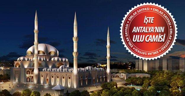 """Antalya'ya """"Ulu Camii"""" yapılacak! İşte yeri ve projesi"""