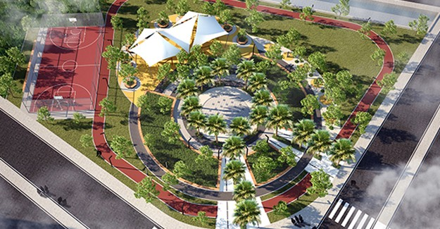 Bornova'ya İzmirlilere nefes aldıracak modern semt parkı!