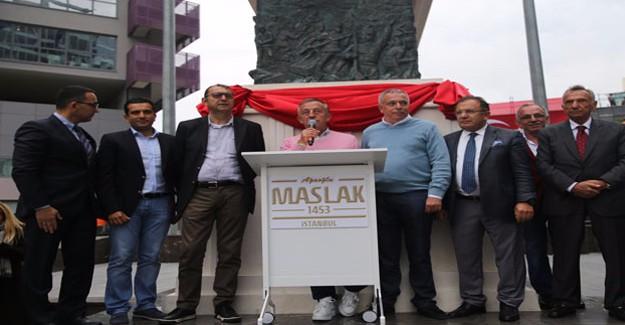 Ağaoğlu, Maslak 1453'teki Atatürk heykelinin açılışını yaptı!