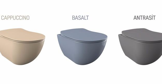 Banyonuzda renkli lavabo ve klozetler ile farklı dekorasyon yaratabilirsiniz!