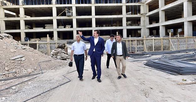 Başkan Erkoç, Arasa Çok Katlı Otopark çalışmalarını yerinde inceledi!