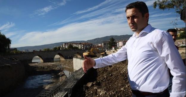 Başkan Eroğlu, Kanal Tokat Projesi'nde peyzaj çalışmalarını inceledi!
