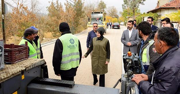 Meram Belediye Başkanı Fatma Toru, asfalt çalışmalarını denetledi!