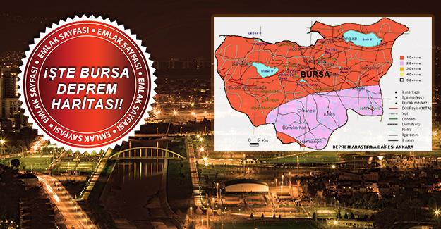 AFAD Bursa'nın Yeni Deprem Haritasını açıkladı! İşte Bursa'nın en riskli bölgeleri