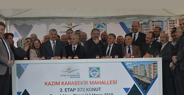 Kayseri Kazım Karabekir Mahallesi kentsel dönüşüm 3. etap temeli atıldı!