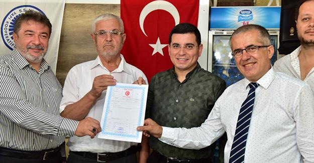 Kepez Belediyesi Akdeniz Sanayi Sitesi esnafına tapularını dağıttı!