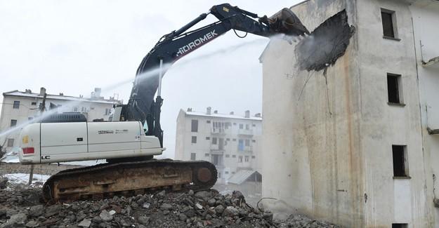 Malatya Yeşilyurt kentsel dönüşüm projesinde yıkımlar devam ediyor!