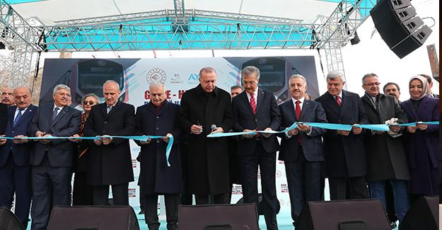 Gebze Halkalı Banliyö hattı açıldı!