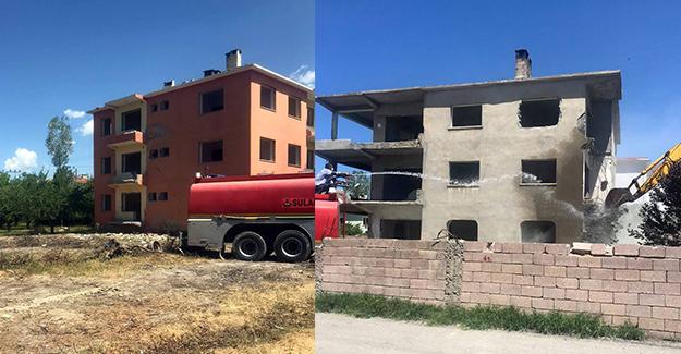 İpekyolu Belediyesi tarafından kentsel dönüşüm kapsamında metruk yapılar yıkılıyor!