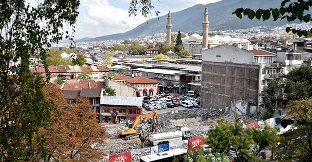Bursa Tarihi Çarşı ve Hanlar Bölgesi Çarşıbaşı Kentsel Tasarım projesinde yıkımlar devam ediyor!