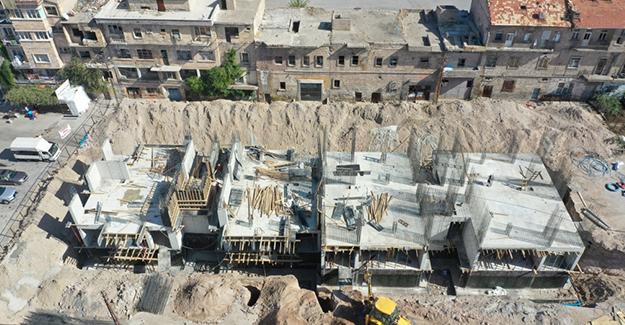 Nevşehir Karasoku kentsel dönüşüm projesinde binalar yükseliyor!