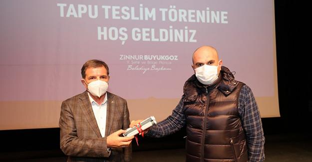 Gebze Balçık Mahallesi'ndeki hak sahiplerine tapuları dağıtıldı!