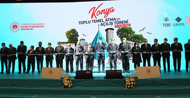 TOKİ Konya'da toplu temel atma ve açılış töreni gerçekleştirdi!