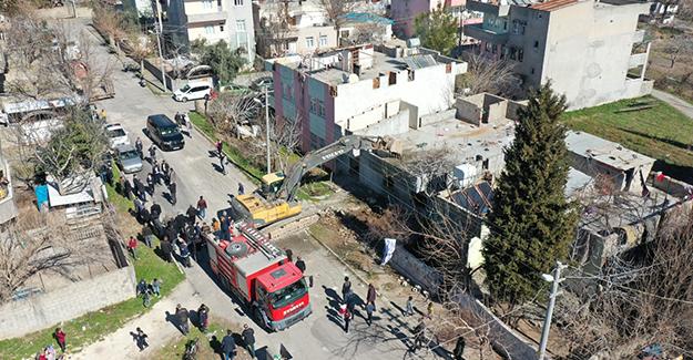 Adıyaman Mara ve Musalla 1. etap kentsel dönüşüm projesinde ilk yapı yıkıldı!