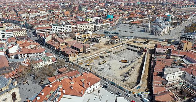 Konya Mevlana Çarşısı ve çevresi dönüşüm projesi kaba inşaatı Mart'ta başlayacak!