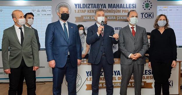 Yıldıztabya 1. etap kentsel dönüşüm projesinin kurası çekildi!