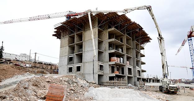 Beydağ kentsel dönüşüm projesinde yapılar yükselmeye başladı!