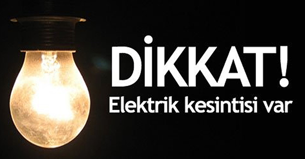 Bursa elektrik kesintisi 9-10 Nisan 2021!
