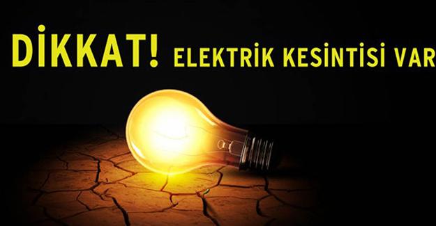 Bursa elektrik kesintisi 1-2-3 Haziran 2021!