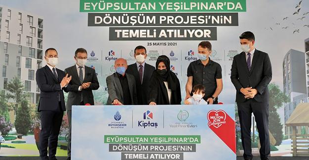 Kiptaş Eyüpsultan Yeşil Pınar Evleri'nin temeli atıldı!