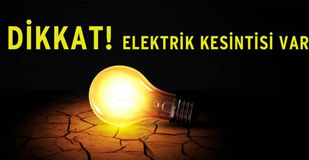 Bursa elektrik kesintisi 8-9-10 Haziran 2021!