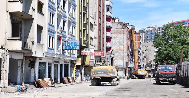 Çömlekçi kentsel dönüşüm 2. etabındaki oteller bölgesinde yıkımlar başladı!