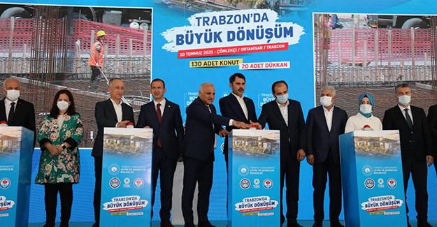 Ortahisar Çömlekçi kentsel dönüşüm projesi birinci etabın temeli atıldı!