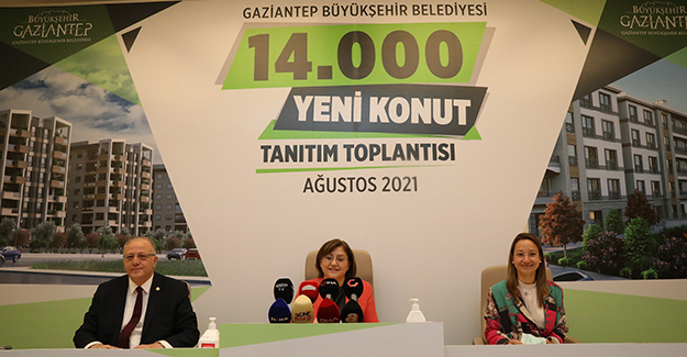 Gaziantep'e 14 bin yeni konut projesi için kollar sıvandı!