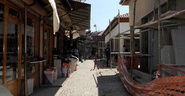 Akşehir Arasta Çarşısı'nda restorasyon çalışması yapılıyor!