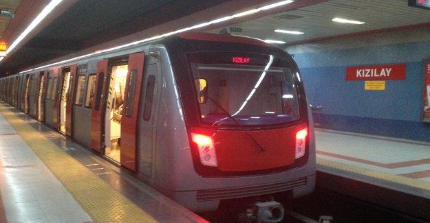 Ankara Metrosu'nun son sefer saati 24.00'a uzatıldı!