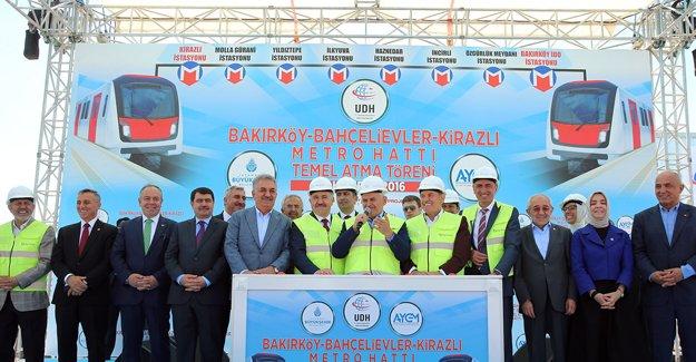 Bakırköy-Bahçelievler-Kirazlı metrosunun temeli atıldı!