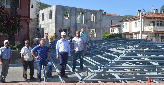 Gemlik Narlı Mahalle Camiinin çatısı tamamlandı!