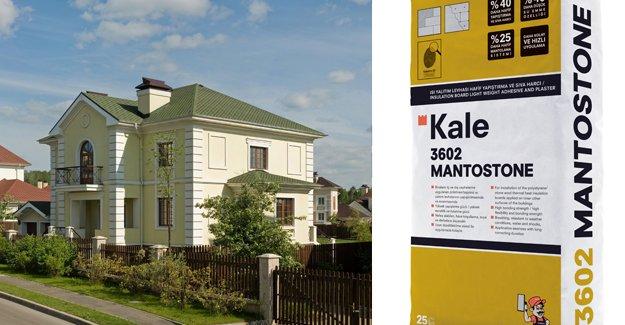 Kale, Mantostone ile mantolama sistemini yüzde 25 hafifletiyor!