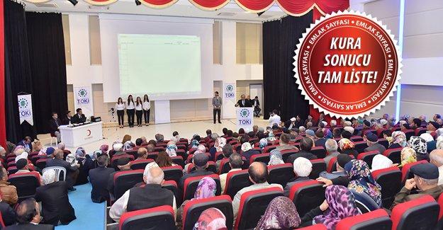 Kastamonu'da TOKİ emekliye özel 200 konutun kurası çekildi!