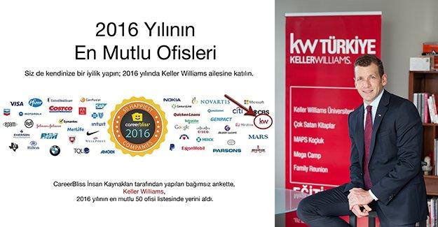 Keller Williams, dünyanın en mutlu ofisleri listesinde!
