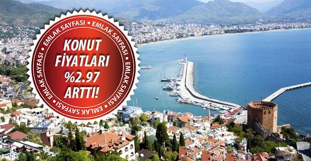 Konut fiyatları en çok Antalya'da arttı!