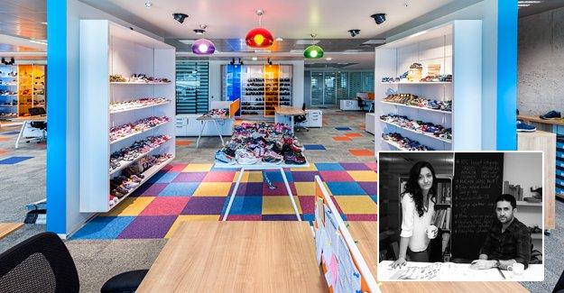 Renklerin rehberliğinde tasarlanan ofis...